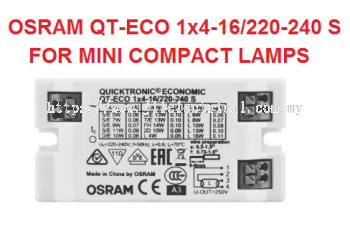 OSRAM QT-ECO 1X4-16W ELECTRONIC BALLAST FOR TUV MINI & COMPACT LAMP