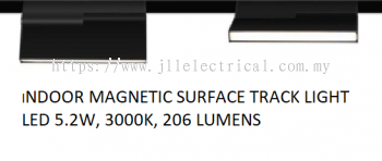 LES INDOOR MAGNETIC SURFACE TRACK LIGHT LED 5.2W 3000K 206 LUMENS GLPR 521114-48V