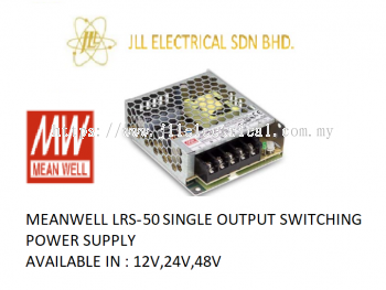 MEANWELL LRS-50 12V 4.2AMP SINGLE OUTPUT SWITCHING POWER SUPPLY