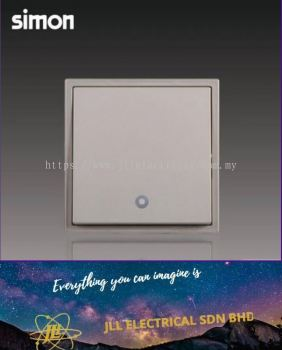 Simon Switch I7 702023-46 20A 1 Gang 1 Way Double Pole Switch With Blue LED Indicator Golden Champag