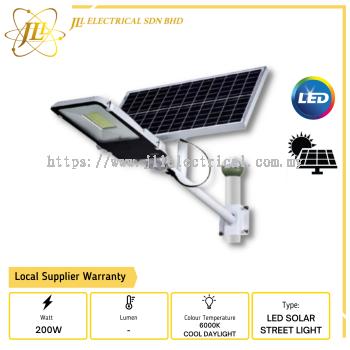 JLUX SOLAR LED BATTERY STREET LAMP 200W, 400 LED HIGH LIGHT SOURCE 2835