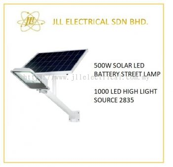 SOLAR LED BATTERY STREET LAMP 500W
