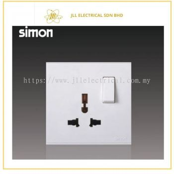 Simon Switch E6 721089-30 13A Universal Switched Socket Outlet White