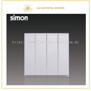 Simon Switch E6 721041-30 10A 4 Gang 1 Way Switch - White