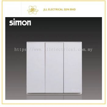 Simon Switch E6 721031-30 16A 3 Gang 1 Way Switch  White
