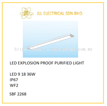 OFFSHORE LED EXPLOSION PROOF PURIFIED LIGHT 9/18/36W. SBF2268 PURIFIED LIGHT