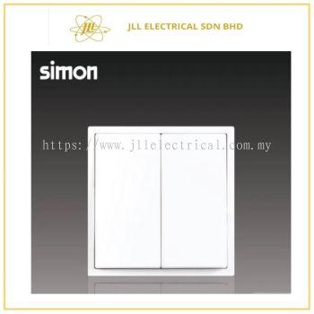 Simon Switch i7 701022-30 16A 2 Gang 2 Way Matt White