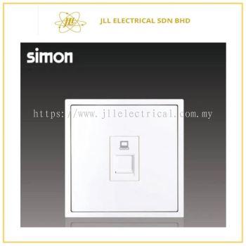 Simon Switch i7 705218-30 1 Gang Data Outlet Cat 5e (RJ45) Matt White