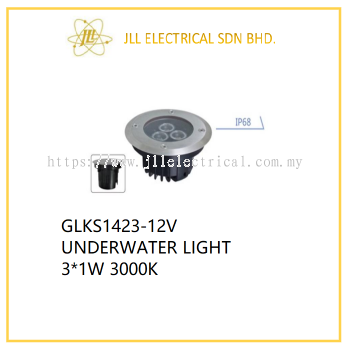 DESS GLKS1423-12V UNDERWATER LIGHT 3*1W 3000K