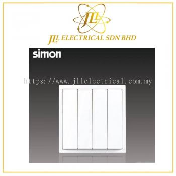 Simon i7 701041-30 10A 4 Gang 1 Way White