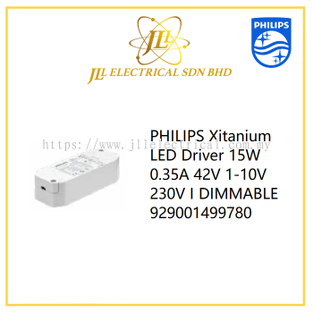 PHILIPS Xitanium LED Driver 15W 0.35A 42V 1-10V 230V I DIMMABLE 929001499780