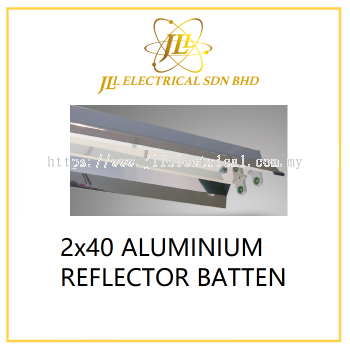 2X40 ALUMINIUM REFLECTOR BATTEN. USED FOR FISH TANNING. SBW 240