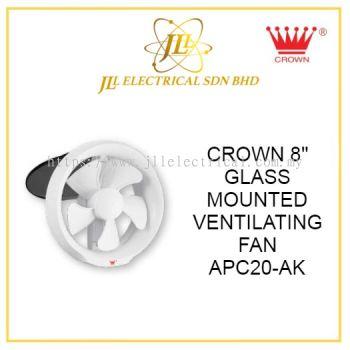 """CROWN 8"""" GLASS MOUNTED VENTILATING FAN APC20-AK"""