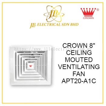 """CROWN 8"""" CEILING MOUTED VENTILATING FAN APT20-A1C"""