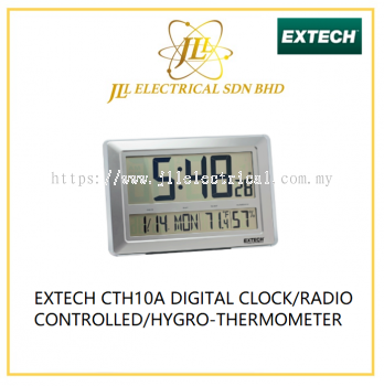 EXTECH CTH10A DIGITAL CLOCK/RADIO CONTROLLED/HYGRO-THERMOMETER