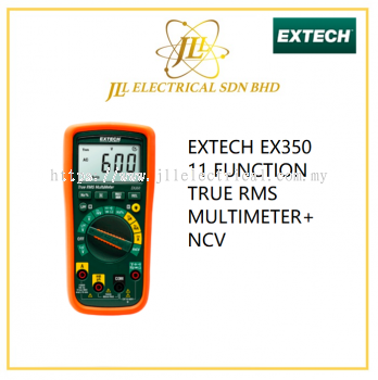 EXTECH EX350 11 FUNCTION TRUE RMS MULTIMETER+NCV