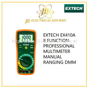 EXTECH EX410A 8 FUNCTION PROFESSIONAL MULTIMETER MANUAL RANGING DMM