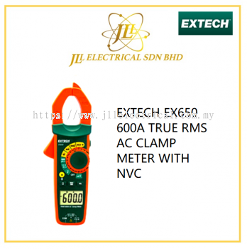 EXTECH EX650 600A TRUE RMS AC CLAMP METER WITH NVC
