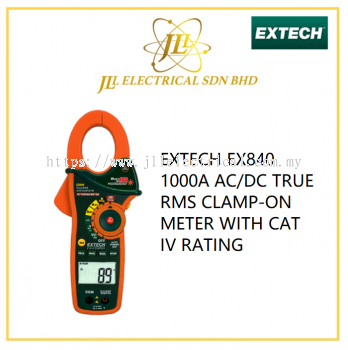 EXTECH EX840 1000A AC/DC TRUE RMS CLAMP-ON METER WITH CAT IV RATING