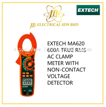 EXTECH MA620 600A TRUE RMS AC CLAMP METER WITH NON-CONTACT VOLTAGE DETECTOR