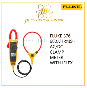 FLUKE 376 600A TRMS AC/DC CLAMP METER WITH IFLEX