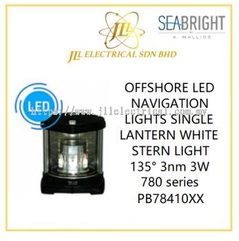 SEABRIGHT LED NAVIGATION LIGHTS SINGLE LANTERN WHITE STERN LIGHT 135�� 3nm 3W 780 series PB78410XX