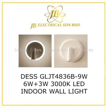 DESS GLJT4836B-9W 6W+3W 3000K LED INDOOR WALL LIGHT