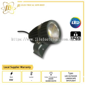 KOI 6W-240V-LS COB 6W 3000K LED OUTDOOR LANDSCAPE SPOTLIGHT/SPIKELIGHT IP65