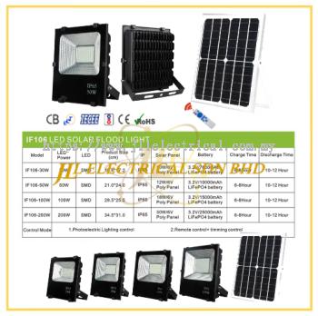 JLUX IF106 LED SOLAR FLOODLIGHT *Photoelectric Lighting control & Remote control + Timing control [30W/50W/100W/200W][3000K/4000K/6500K]