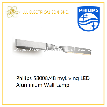 Philips 58008/48 myLiving LED Aluminium Wall Lamp