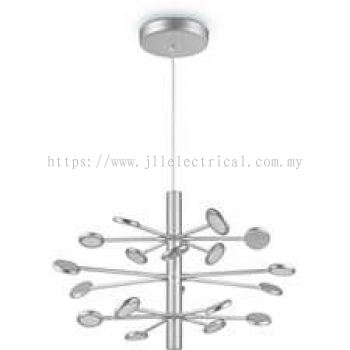 PHILIPS 45116 Mimosa chandelier LED aluminium 1x80W Silver