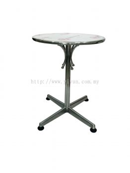 Stainless Steel Round Cafe Table