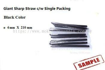7 Giant Straw black 6 x 210