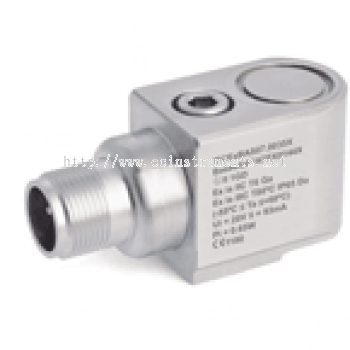 HS-100IS Series 2 Pin MS Connector Intrinsically Safe Industrial Accelerometer