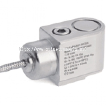 HS-100IS Series Braided Cable Intrinsically Safe Industrial Accelerometer