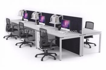 6 pax workstation with partition in between