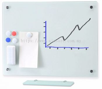 Tempered glass writing board with magnetic and stainless steel nuts