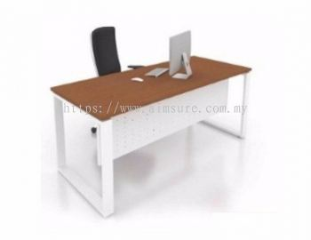 Rectangular table with square leg and metal modesty panel