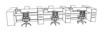 Modern workstation with openshelf cabinet 1
