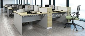 Workstation with high storage drawer n divider panel