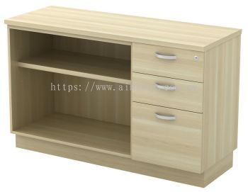 Low Open Shelf + Fixed Pedestal
