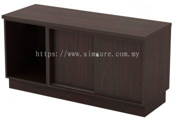 Side Cabinet with Open Shelf and Sliding Door Cabinet (AIM6120)