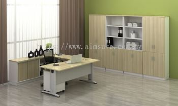 Director table with side cabinet BMB11
