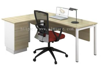 L Shape table with fixed pedestal SWL1815-3D/4D