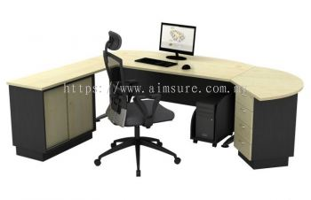 Executive Table with side cabinet TMB 180A