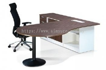 Crina L shape director table without modesty panel