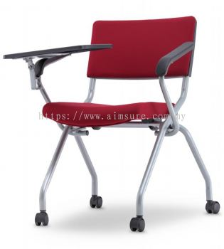 Executive Low back cushion folding chair with tabletAIM2PT-AXIS