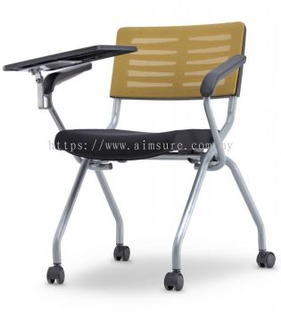 Executive netting folding chair with tablet AIM2MT-AXIS