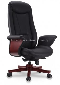 Director highback chair with wooden baseAIM8801-BOSS