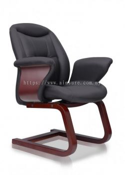 Director visitor chair with wooden candilever AIM8804-BOSS